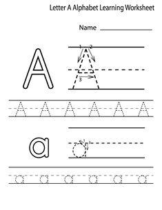 Free Printable Alphabet Letter Tracing Worksheets | kindergarten ...