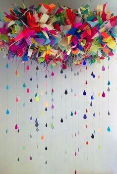 Nuage en papier coloré  Paper Cloud