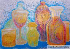 <주스, Juice, oil pastel, 2014>