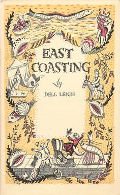 East Coasting - London & North Eastern railway booklet by Dell Leigh - frontispiece by Edward Bawden - 1930