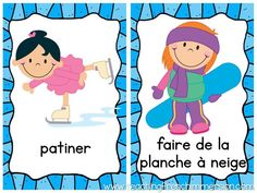 Winter themed activity posters in French! Great for teaching vocab and playing games.