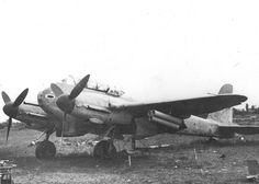 ME-210 with Nebelwerfer rockets