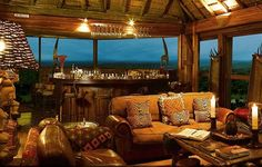 33,000 acres of game reserve in South Africa.    http://www.luxetravel.com/hotels-and-resorts/ulusaba-rock-lodge/