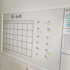Shower board as a whiteboard