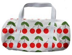 Cherries Pattern duffle bag from Print All Over Me