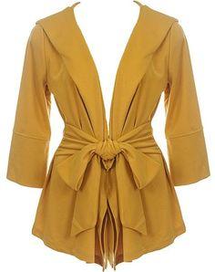 Mod Mustard Jacket with Hood!