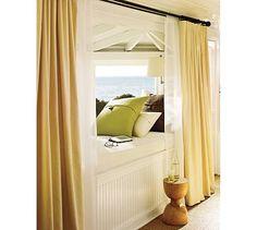 Cozy dormer reading nook for the master bedroom.. Loving that ceiling!!