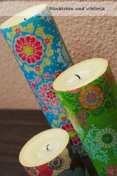 DIY Kerzen-Updo / Beautified candles including tutorial Upcycling