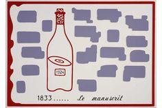 Marcel Broodthaers, Le Manuscrit, 1971. Collection privée