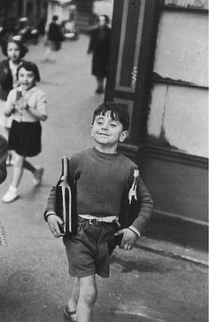 Bid now on Rue Mouffetard, Paris by Henri Cartier-Bresson. View a wide Variety of artworks by Henri Cartier-Bresson, now available for sale on artnet Auctions. Robert Doisneau, Candid Photography, Vintage Photography, Street Photography, Classic Photography, Travel Photography, Photography Workshops, Landscape Photography, Portrait Photography