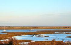 View across Brancaster marshes