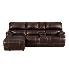 Franklin Sofa Chaise with recliner and bed chaise in genuine leather also
