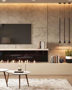 Living Room Decor Fireplace, Ikea Living Room, Home Fireplace, Living Room Modern, Living Room Interior, Living Rooms, Tv Unit Decor, Tv Wall Decor, Built In Around Fireplace