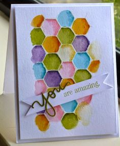 allycat cards: Watercoloring Stamped Backgrounds