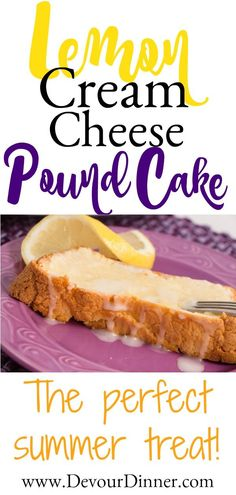Lemon Cream Cheese Pound Cake! Try out this easy dessert! #dessertrecipes #dessert #poundcake #Recipe #recipes #food #foodie #treat #easyrecipe