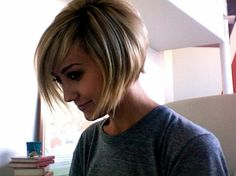 cute bob - but do I have the patience to grow my hair out like this?