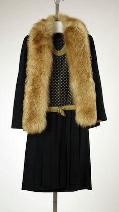 re:pin BKLYN contessa :: Ensemble: Coat, House of Worth 1927, French, Made of silk and fur