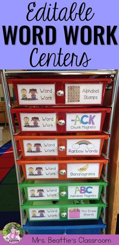 These Word Work activities are perfect for your 1st grade, 2nd grade or 3rd grade class! The resource includes centers and storage labels that are a perfect fit for any Daily 5 program. Designed for use with any word list!
