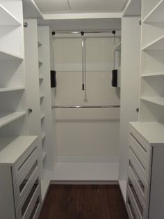 White Walk In Closet interior design, small walk-in closet, white walk-in closet