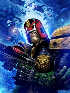 Clint Langley at his best -- what a Dredd