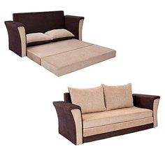Product dimensions:sofa- length (77.5 inches), bed- length (77.5 inches),sofa- width (31.10 inches), bed- width (80.31 inches),sofa- height (26.37 inches), bed- height (26.37 inches) Primary material: acacia wood, colour: cream brown, style: modern Seating capacity: three seater and two adults can sleep