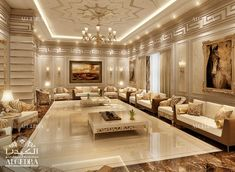 ALGEDRA's team is known to be among the top & leading interior design company in Dubai. View our Projects and find stylish interior designs for your home and offices. Mansion Interior, Luxury Homes Interior, Luxury Home Decor, Residential Interior Design, Interior Design Living Room, Living Room Designs, Drawing Room Interior, Luxurious Bedrooms, House Design