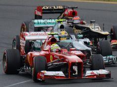 Massa, Hamilton and Kimi - Australia 2013