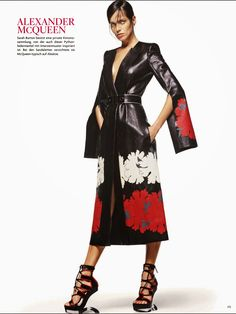 So Schön, So Chic by Giampaolo Sgura for VOGUE Germany Jan 2015 - Alexander McQueen