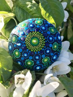 Log in to your Etsy account. Stone Mandala, Mandala Rocks, Mandala Artwork, Mandala Print, Stone Painting, Rock Painting, Painted Rocks, Create Yourself, Blue