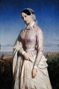 ab. 1846 Louis-Edouard Dubufe - Portrait of a woman