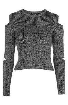 Topshop Slash Sleeve Marled Sweater available at #Nordstrom