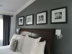 Image result for bedroom grey accent color