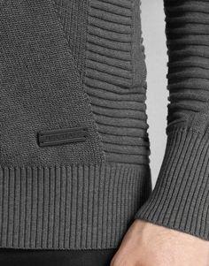 Karson Zip Cardigan - Mid Grey Melange Cotton Knitwear