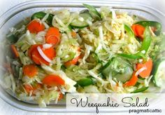 This was a popular salad when I was growing up. The recipe supposedly comes from the legendary Weequahic Diner in Newark, New Jersey. The owners of the Weequahic, the Baumans, later operated the Cl...