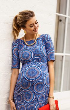 Every mum-to-be wardrobe needs an elegant maternity shift dress to brighten the working weekday.