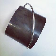 Oxidized sterling cuff. heidiabrahamson.com
