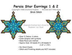 Seed Bead Jewelry, Seed Bead Earrings, Star Earrings, Seed Beads, Beaded Earrings Patterns, Jewelry Patterns, Beading Patterns, Peyote Stitch Patterns, Perler Patterns