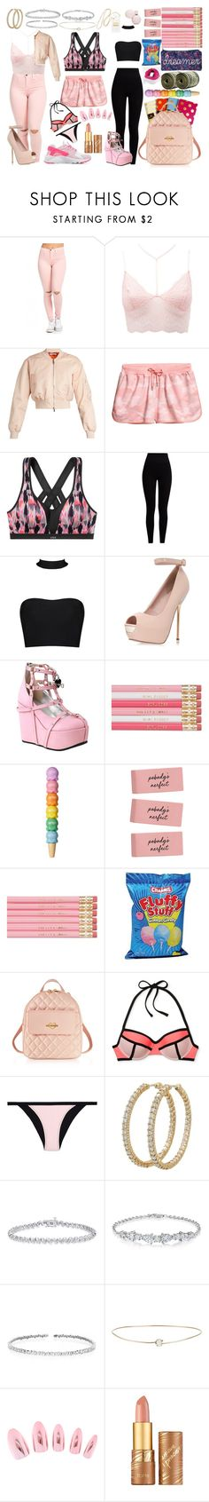 """Untitled #242"" by duhitzparis ❤ liked on Polyvore featuring Charlotte Russe, Givenchy, Victoria's Secret, Pepper & Mayne, Topshop, Demonia, Love Moschino, Heidi Klein, Roberto Coin and Suzanne Kalan"