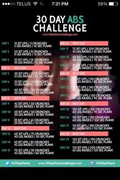30 Day Abs Workout/Challenge by lucile