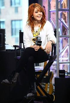NEW YORK, NY - JUNE 16: Musician Lindsey Stirling speaks at AOL BUILD Speaker Series: Lindsey Stirling at AOL Studios In New York on June 16, 2015 in New York City. (Photo by Monica Schipper/FilmMagic) No°9