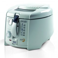Delonghi Roto Fryer is one of the most popular fryers you will find in UK kitchens. We will find out why this fryer is regard as one of the best fryers. Cooking Appliances, Small Kitchen Appliances, Kitchen Gadgets, Tesco Direct, Shops, Deep Fryer, Cord Storage, Prep Kitchen, Korn