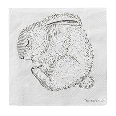 Papírové ubrousky Sleeping Animals | Bella Rose