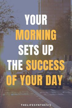 """""""Your monring sets up the success of your day"""" - How men can create tailor made morning routines that fit their schedule. Get the template and fill in the blanks."""