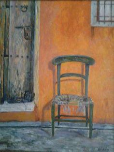 La magia de RUDI: Cuadros Girón.  TÍTULO: La vieja silla, realizado al óleo.