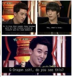 """Kekekeke Yonghwa is so sweet :)"" .. lol Seungri`s message for GD XD"