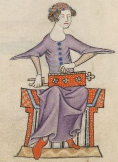 Detail from The Luttrell Psalter, British Library Add MS 42130 (medieval manuscript,1325-1340), f81v