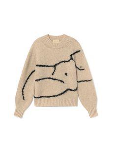 Soft square sweater with 'women figure' drawing by Paloma Wool – Paloma Wool