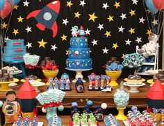 Noah's First Birthday Party - Outer Space Party - Space Astronaut Birthday