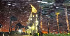 Forte vento e chuva balançam árvores em Cabo Canaveral, na Flórida, com a aproximação do furacão Matthew. Os ventos do furacão chegam a 195 km/h. O número de pessoas mortas pelo Matthew no Haiti subiu para ao menos 478 pessoas, à medida que as agências governamentais do país recebem informações de áreas remotas que tiveram comunicações cortadas pela tempestade