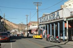 View North on C Street, Virginia City's Main Drag